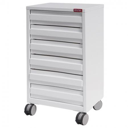 SOHO Mobile Under-Desk Filing Cabinet Office Storage with Casters - 6 Drawers