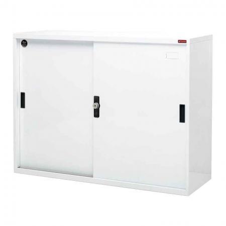 Large lockable filing cabinet with metal door, 880mm width