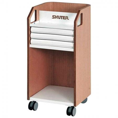 Bentwood 이동식 책상 아래 파일링 캐비닛 사무실 보관용 캐스터 - 서랍 3개 - 서랍과 큐비의 편리한 조합이 특징인 이동식 파일링 및 편지지 캐비닛입니다.