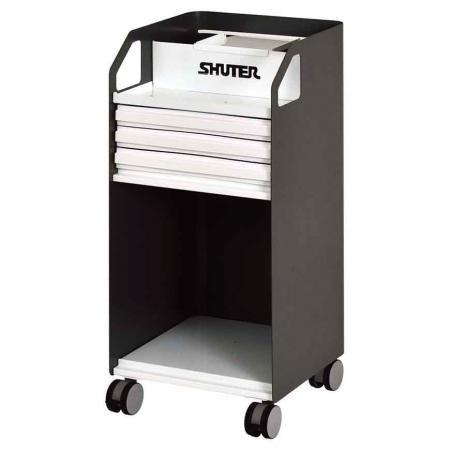 Metal Mobile Under-Desk Filing Cabinet Office Storage with Casters - 3 Drawers - These office storage units are mounted on sturdy casters for smooth rolling around the office.