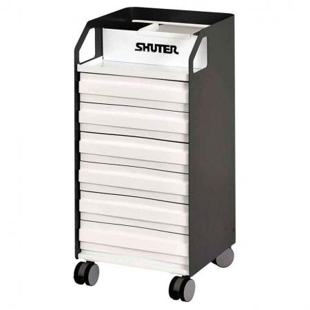 Metal Mobile Under-Desk Filing Cabinet Office Storage with Casters - 6 Drawers