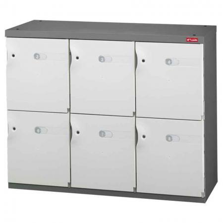 신발 또는 사무실 보관을 위한 Office Storage Credenza - 3열에 6개의 미디엄 도어