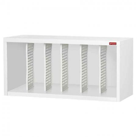 Steel File Cabinet with 5 dividers in 6 columns - Looking for vertical storage solutions? Store your upright files safely and securely in this SHUTER cabinet.