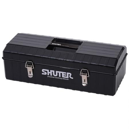 6L Professional Tool Box with 1 Tray and Metal Locks - Great for on the road or use in the factory, take this heavy duty tool box anywhere and confidently pack it with tools.