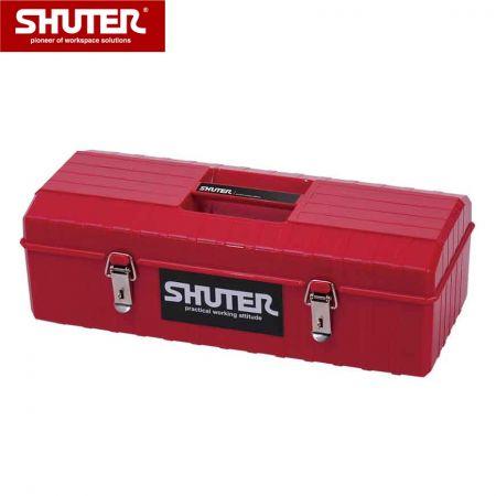 1 개의 트레이 및 금속 잠금 장치가있는 6L 전문 도구 상자 - 1 개의 트레이와 금속 잠금 장치가있는 6L 휴대용 도구 상자