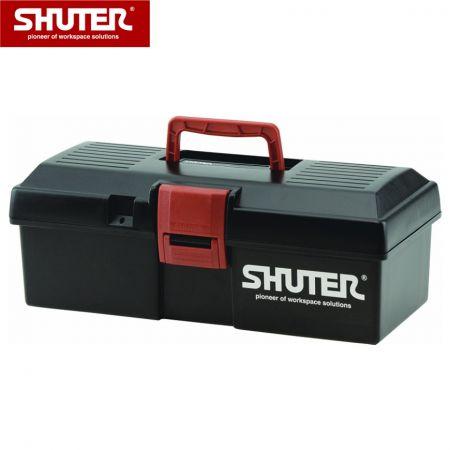 1개의 트레이 및 플라스틱 잠금 장치가 있는 4L 전문 도구 상자 - 1개의 트레이와 견고한 플라스틱 잠금 장치가 있는 4L 휴대용 도구 상자