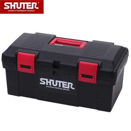 1 개의 트레이 및 플라스틱 잠금 장치가있는 11L 전문 도구 상자 - 1 개의 트레이와 견고한 플라스틱 잠금 장치가있는 11L 휴대용 도구 상자