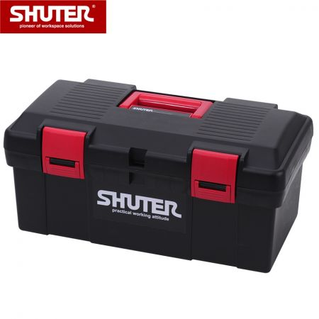 11L Professional Tool Box with 1 Tray and Plastic Locks - 11L Portable Tool Box with 1 Tray and Sturdy Plastic Locks