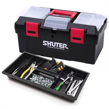 11L Professional Tool Box with 1 Tray, 2 Small Parts Organizers and Plastic Locks - Tool boxes with space for everything from the smallest screw to the heaviest hammer.