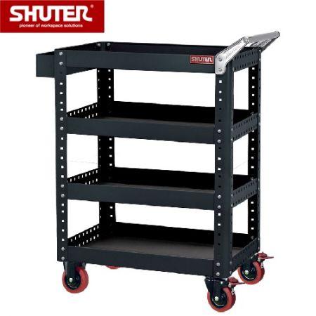 Tool Cart with4 Shelves, Height 1,070 mm - Tool Cart with4 Shelves, Height 1,070 mm
