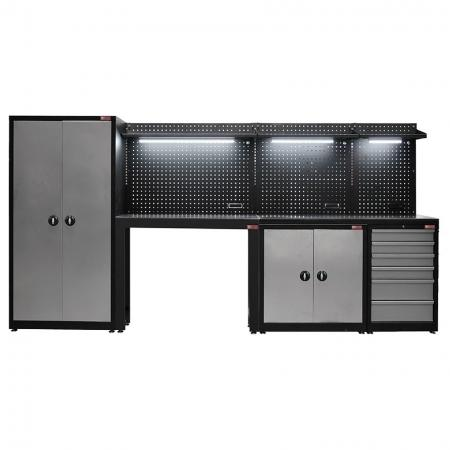 Wall-Set Wall & Locker Tool Organization System