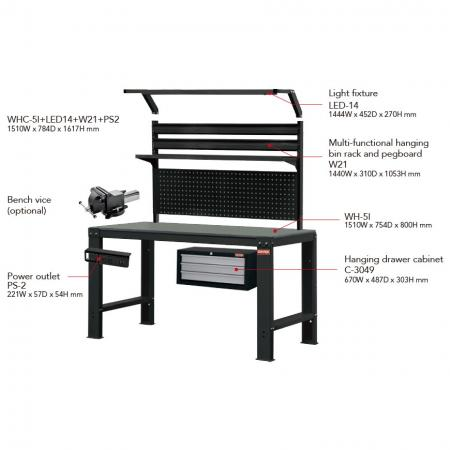 Accessories for Workbenches - Complement your workbench with a solid selection of heavy duty, high quality accessories.