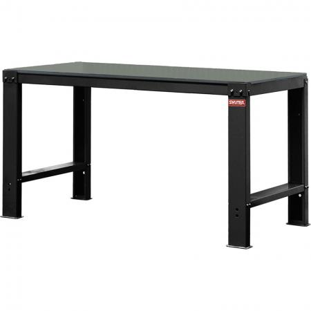 PVC Pad Worktop Heavy-Duty Workbench - Standard Size 150cm Wide - SHUTER steel workbenches provide the ultimate solution to your workspace storage needs.