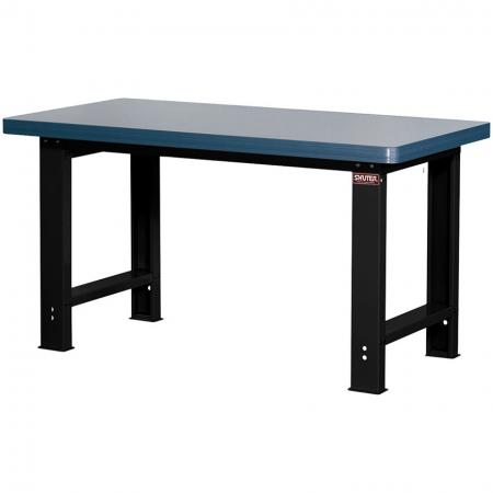 Melamine Worktop Heavy-Duty Workbench - Standard Size 150cm Wide - Work hard on SHUTER steel workbenches, which feature a wide variety of specialized worktop materials.