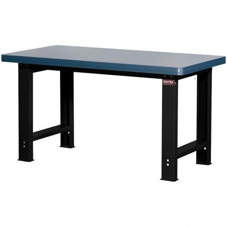 โต๊ะทำงานเมลามีนสำหรับงานหนัก - ขนาดมาตรฐานกว้าง 150 ซม - ทำงานอย่างหนักบนโต๊ะเหล็ก SHUTER ซึ่งมีวัสดุท็อปครัวเฉพาะทางที่หลากหลาย