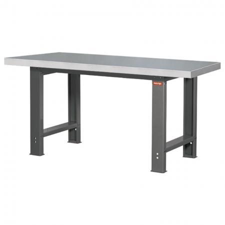 โต๊ะทำงานสแตนเลส SUS304 โต๊ะทำงานสำหรับงานหนัก - ขนาดมาตรฐานกว้าง 150 ซม - โต๊ะทำงานของ SHUTER มีความทนทานและมาพร้อมกับวัสดุท็อปครัวที่มีให้เลือกมากมาย