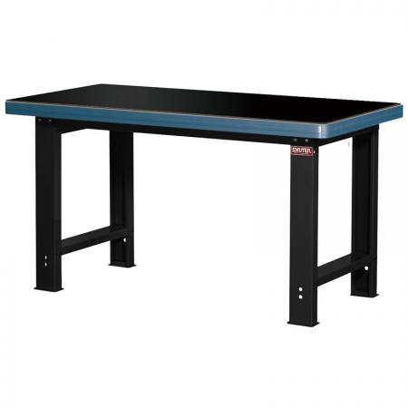 Heavy-Duty Workbench - Standard Size 180cm Wide 5mm Reinforced Thermosetting-Resin Worktop - Choose the best worktop material for each situation with SHUTER steel workbenches.