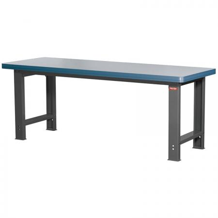 Heavy-Duty Workbench - Standard Size 210cm Wide with 0.8mm Melamine Worktop - SHUTER combines a sturdy steel frame with a great selection of worktop materials to bring you the ultimate workbench.
