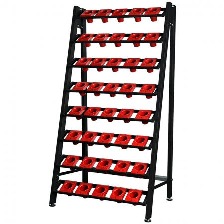 Sturdy Single CNC Tool Holder Rack with 8 Tool-and-Bit Storage Benches and Holders