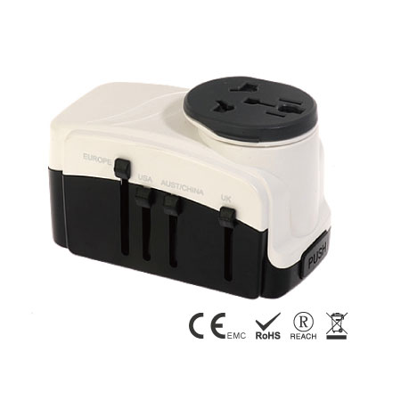 Earth Universal Travel Adapter - Grounded Multi-Nation Travel Adapter