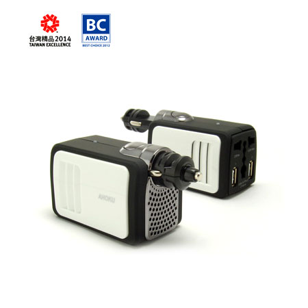 Car Inverter with 2.1A USB Charger