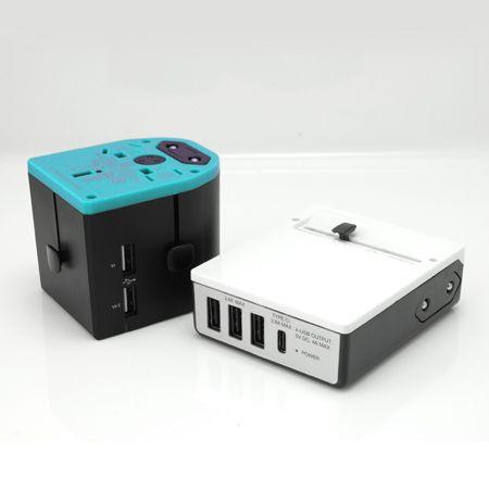 Universeller USB-Reiseadapter und Netzstecker