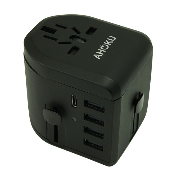 Type C 5A 5-USB Travel Adapter (Type C + 4-USB / 5A Total)