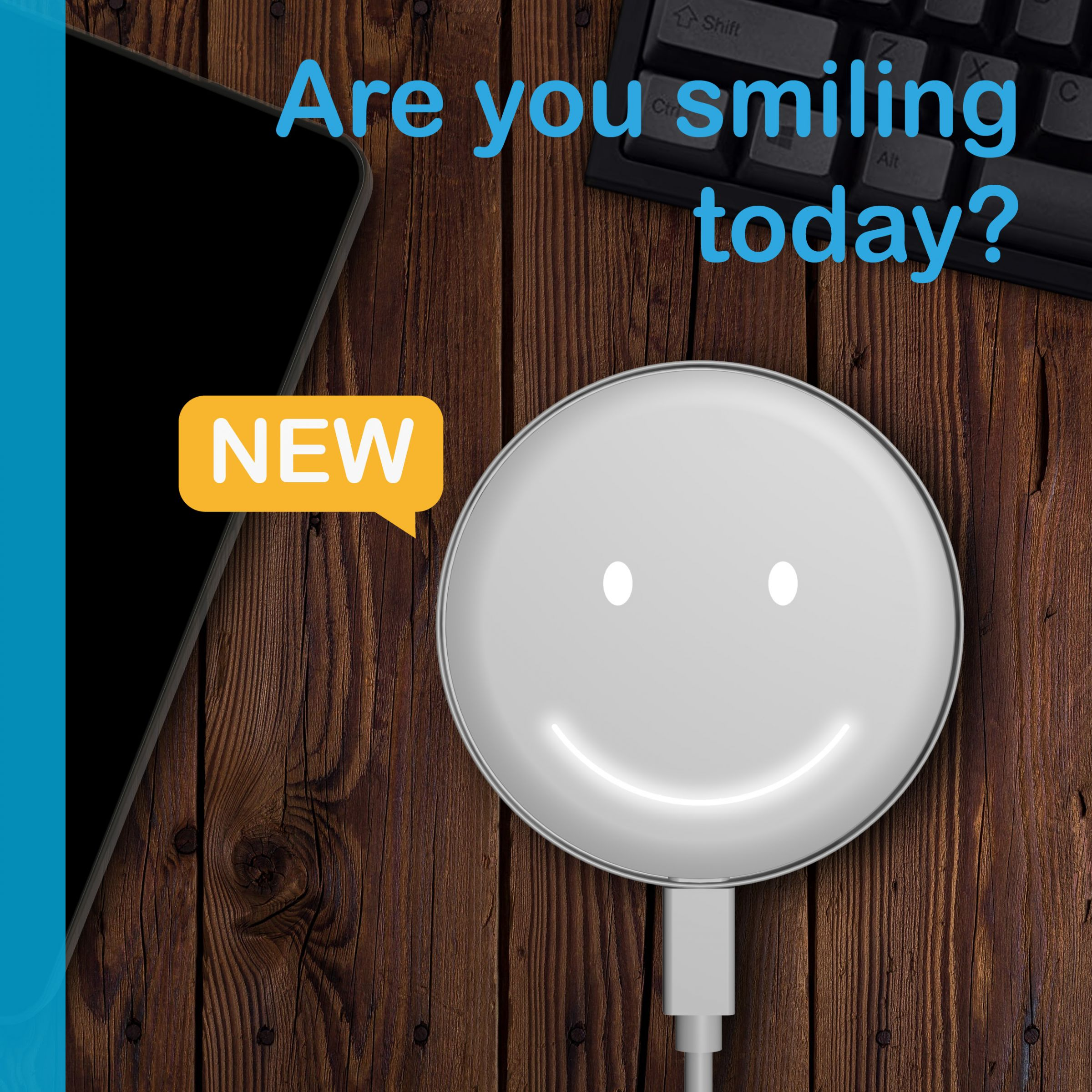User-Interaction Smiley Wireless Charger with powered 15W - User-Interaction Smiley Wireless Charger