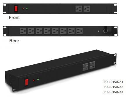 10 prises avec interrupteur disjoncteur combiné et protection contre les surtensions