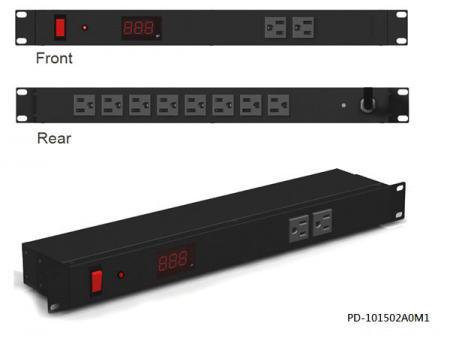 10 prises avec interrupteur disjoncteur combiné et ampèremètre