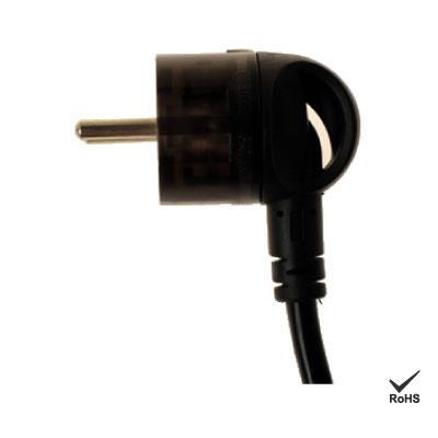 360 giratorio del cable de alimentación de CA con enchufe europeo