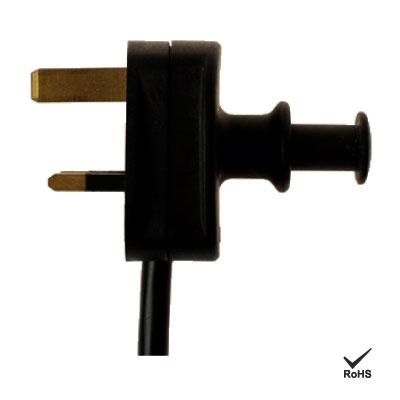 Reino Unido Handy Plug Cable de alimentación de CA - Práctica foto de enchufe