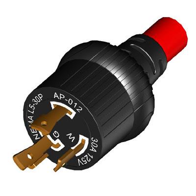 30A NEMA L5-30P Twist Lock Plug (Molding)