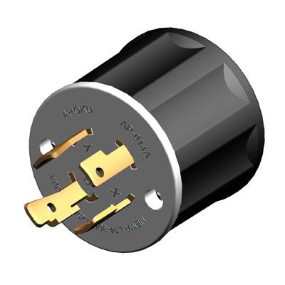 30A NEMA L14-30P Tapón de bloqueo giratorio (ensamblaje)