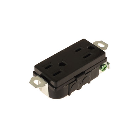 15A NEMA 5-15 Duplex Receptacle - NEMA 15A Power Receptacle