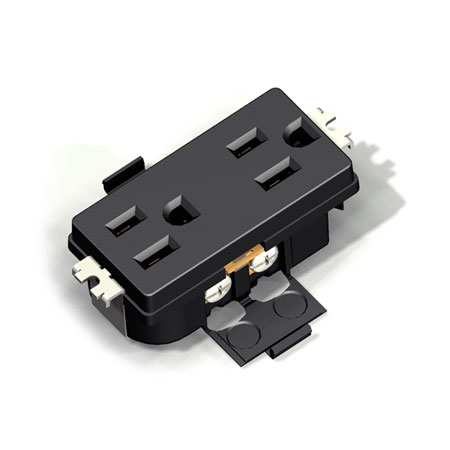 15A NEMA 5-15 Wall Duplex Receptacle - NEMA 15A Outlet Receptacle