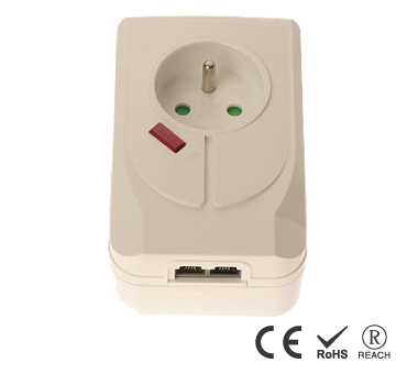 French 16A250V Direct Plug-In Wall Mount Surge Power - France Receptacle with Safety Shutters