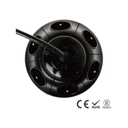 6孔电源突波保护插座 - 电源及突波保护指示灯