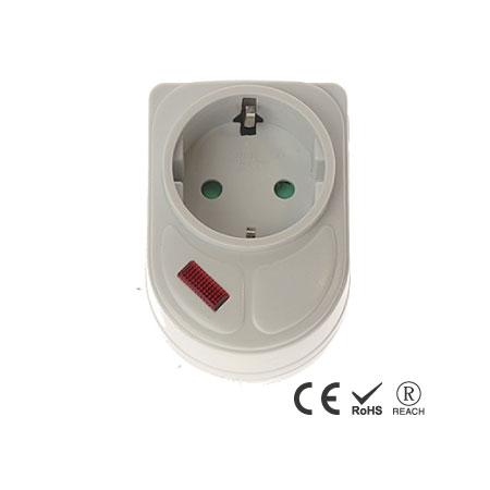 シングルアウトレット省スペース電気プラグアダプター - シュコーレセプタクル