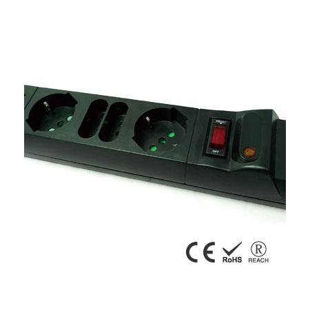 Italienisch/Chile Langer Streifen 8 Steckdosen Verlängerungskabel Surge Power - Ein-/Ausschalter