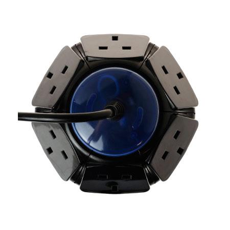 Ổ cắm 6 chiều Mở rộng nguồn điện Đầu cắm ổ cắm của Vương quốc Anh - Đèn báo bảo vệ nguồn & chống sét lan truyền