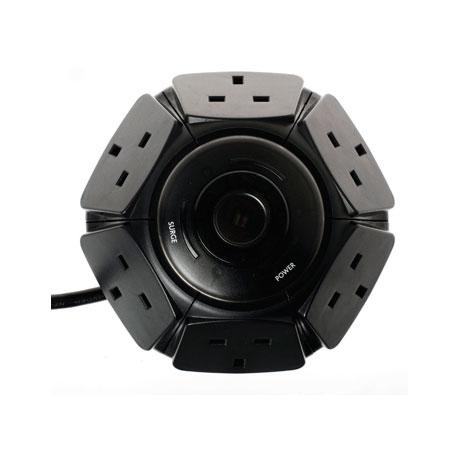 Vương quốc Anh 6 lỗ Ổ cắm Ổ cắm điện áp chống sét lan truyền Dải điện - Công tắc nút nhấn nguồn