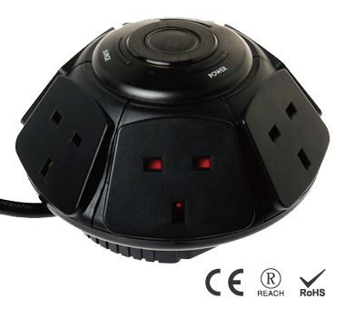 英式6孔主從裝置插座 - 節能插座