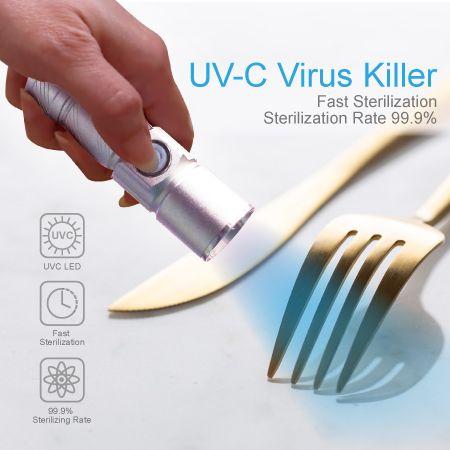 Asesino de gérmenes por luz ultravioleta - Desinfección de vajilla