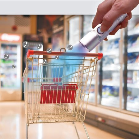 Shopping Cart Handle Sterilization