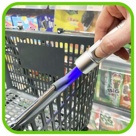 Supermarket Basket Handle Sterilization