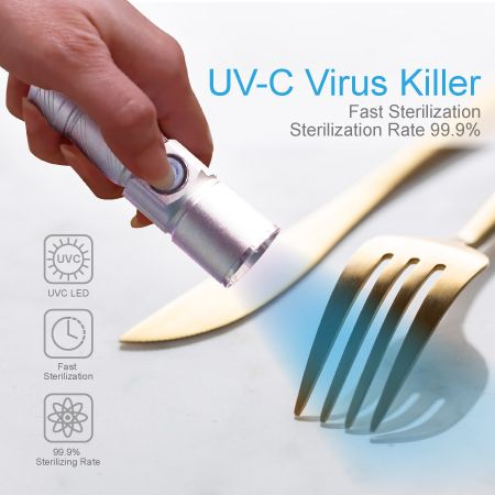 深紫外线强力杀菌光枪 - 餐具杀菌