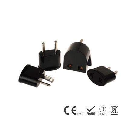 4er-Pack Reisestecker mit Stecker A,C,G,I - Geerdeter Multi-Nation-Reiseadapter