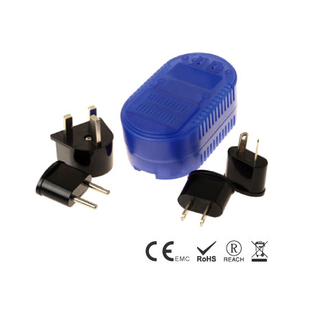 2000W Down Travel Voltage Converter with Adapter Plug Set