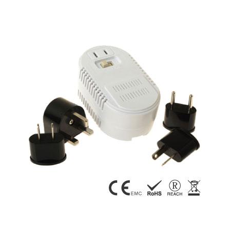 25/1875W高低双瓦电压转换器组合 - 高低功率旅行变压转换器组合
